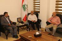 لقاء رئيس الاتحاد مع مدير مديرية مؤسسة جهاد البناء الانمائية في الجنوب