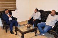 لقاء رئيس الإتحاد مع مسؤول الدفاع المدني في المنطقة الأولى