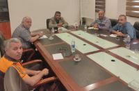 لقاء رئيس الاتحاد الحاج علي طاهر ياسين مع رئيس نادي المجد-ميس الجبل